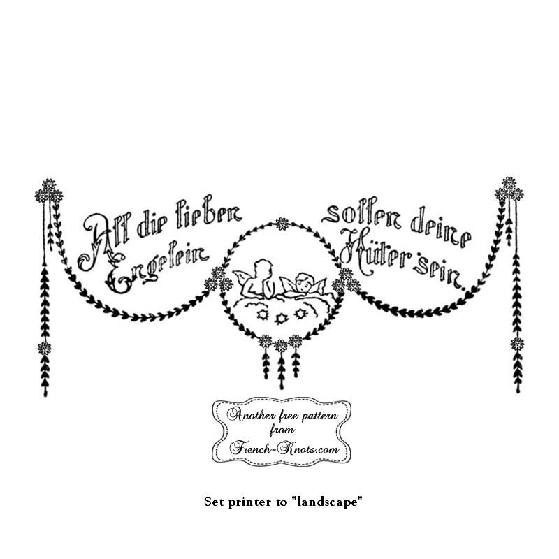 german all die lieben embroidery pattern