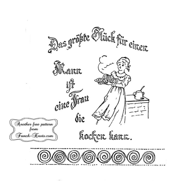 german das grobte embroidery pattern