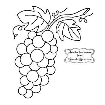 bunch of grapes embroidery pattern