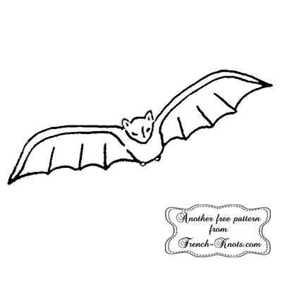halloween bat embroidery pattern