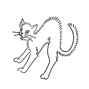 halloween cat embroidery pattern