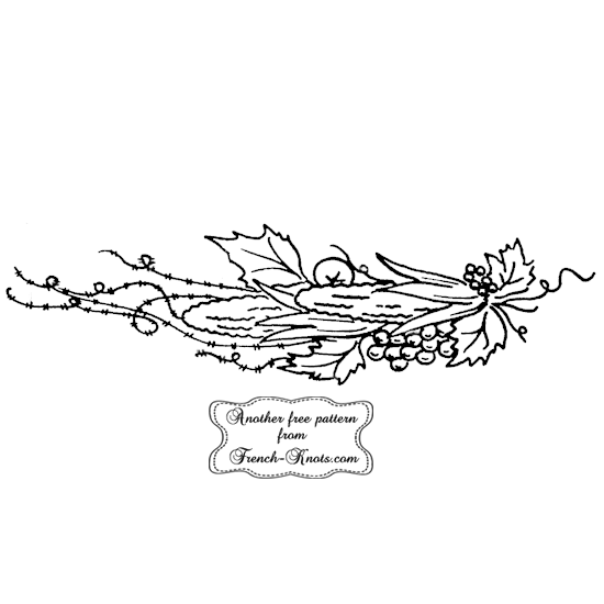 autumn harvest embroidery pattern