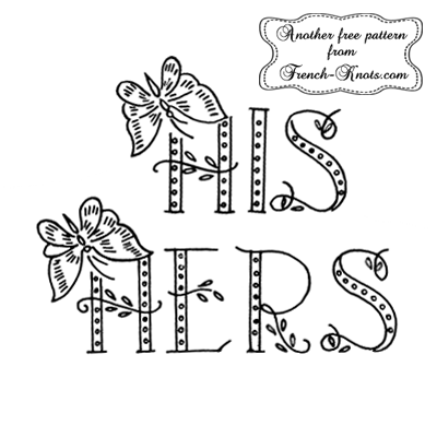 his and hers embroidery patterns
