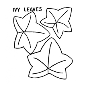 ivy leaves applique embroidery pattern
