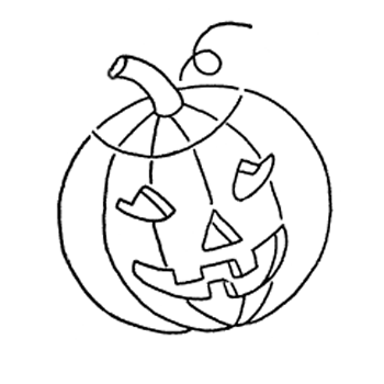 jack-o-lantern halloween embroidery pattern