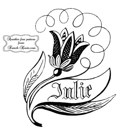 julie monogram embroidery pattern