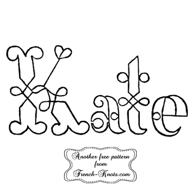 kate monogram embroidery pattern