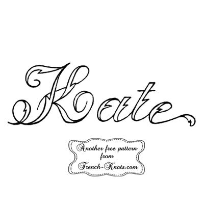 kate monogram embroidery pattern