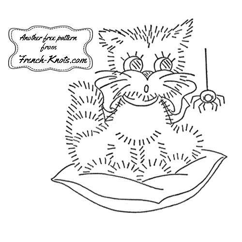 kitten set embroidery patterns