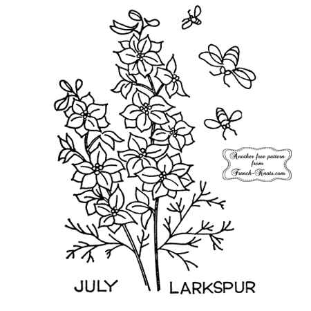 larkspur embroidery pattern