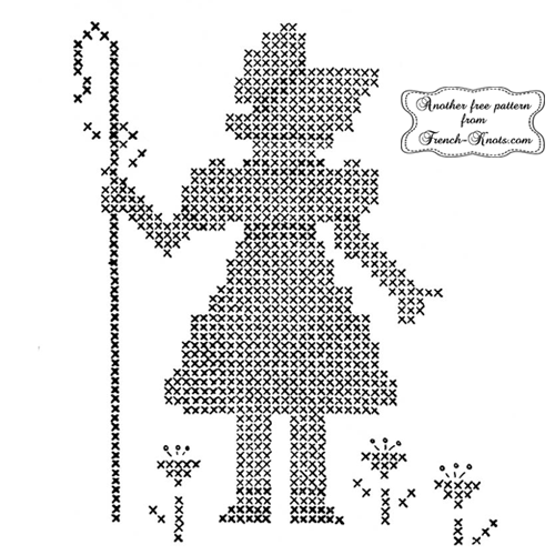 lil bo peep embroidery pattern