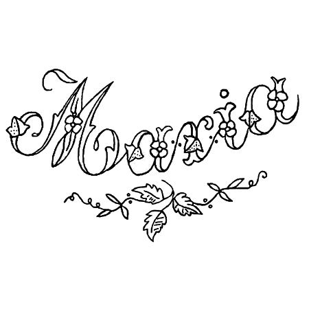 maria embroidery pattern