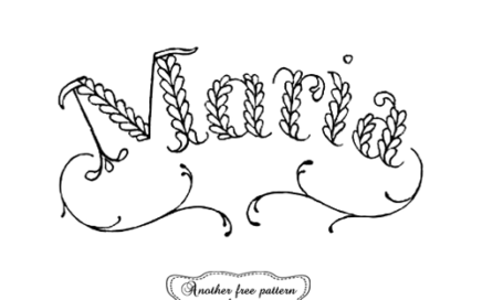 maria monogram embroidery pattern