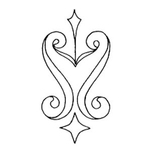 stars and swirls motif embroidery pattern