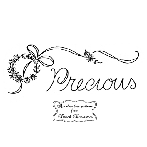 precious embroidery pattern