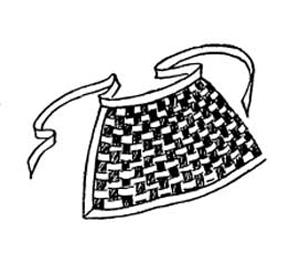 woven ribbon apron sewing pattern