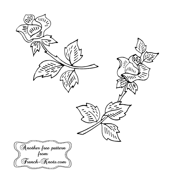 rosebud embroidery patterns