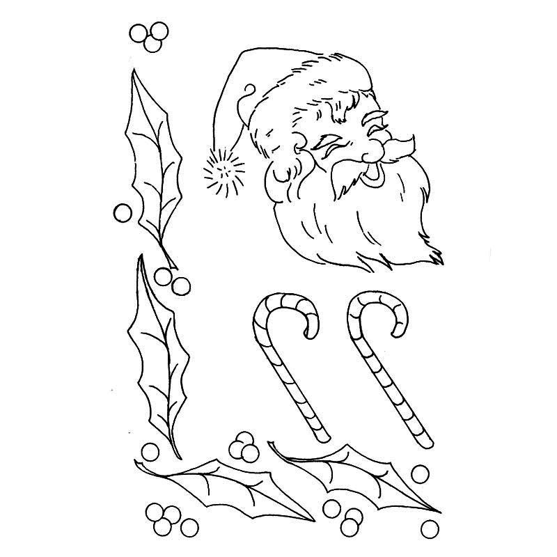 Christmas santa embroidery pattern