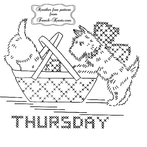 scottie-dog-thursday embroidery pattern