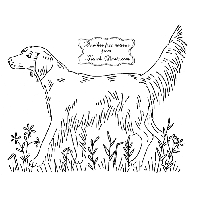 irish setter embroidery pattern