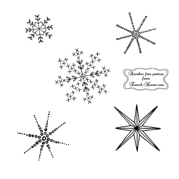 snowflake embroidery pattern