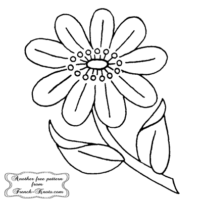 sprig - single flower embroidery pattern