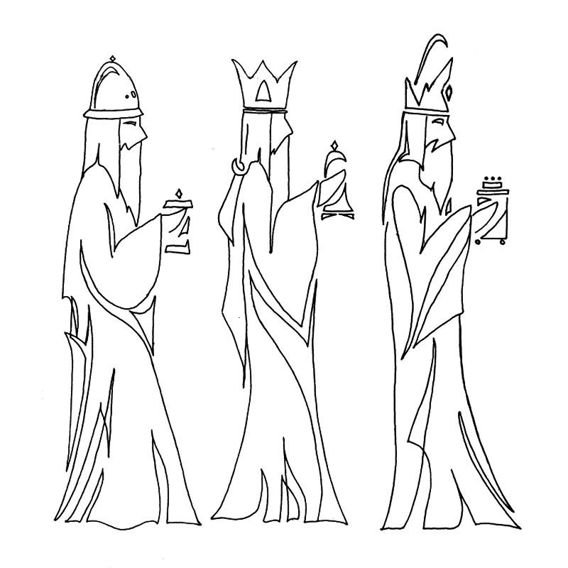 three wise men embroidery pattern
