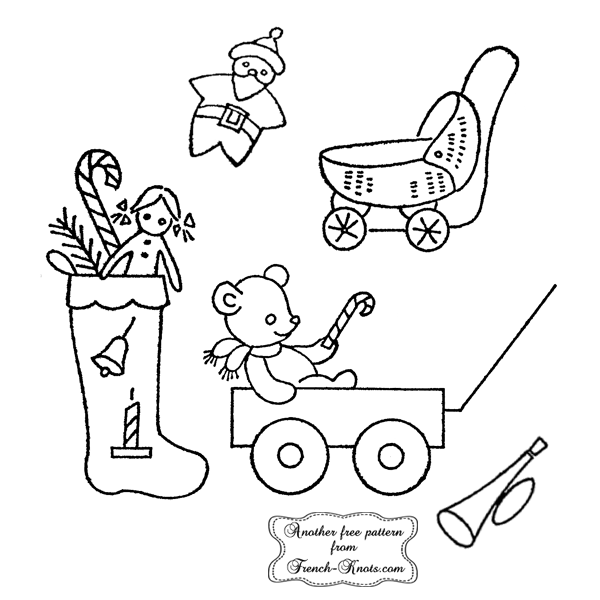 christmas toys embroidery patterns