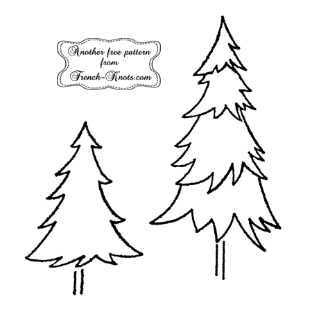 christmas tree embroidery patterns