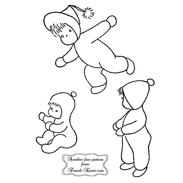 winter babies embroidery patterns