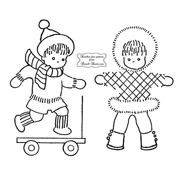 winter kids embroidery patterns