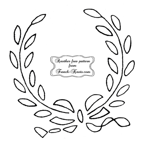 open wreath frame embroidery pattern