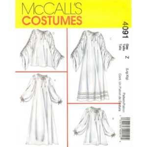 McCalls 4091 costume chemise sewing pattern