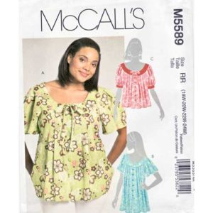 McCalls 5589 top sewing pattern