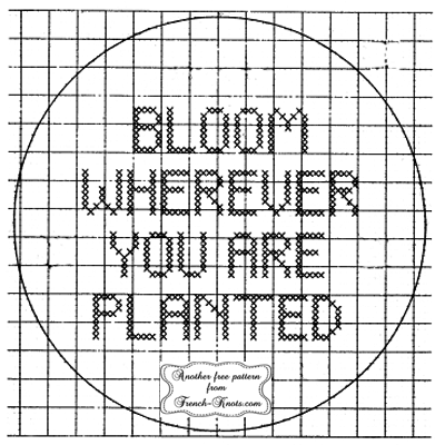 bloom wherever you are planted cross stitch pattern