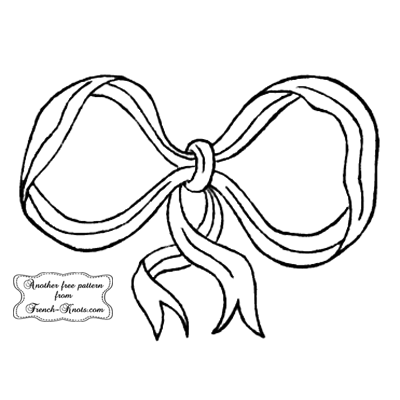 bow monogram frame embroidery pattern