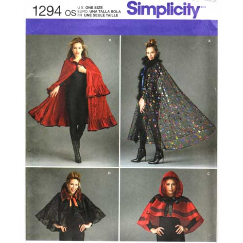 simplicity 1294 cape sewing pattern
