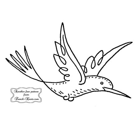 bird in flight embroidery pattern