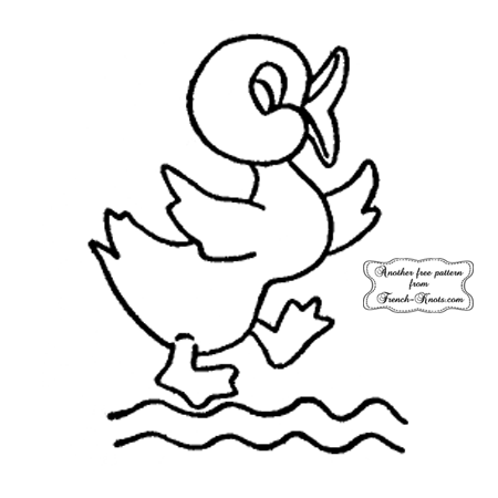 baby duck embroidery pattern
