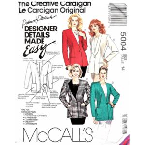 McCalls 5004 cardigan jacket pattern