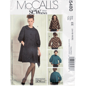 McCalls 5480 swing jacket and coat pattern