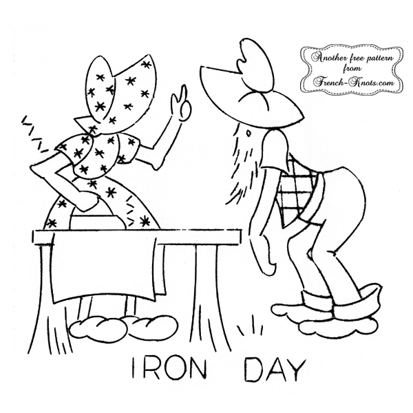 hillbilly iron day embroidery pattern