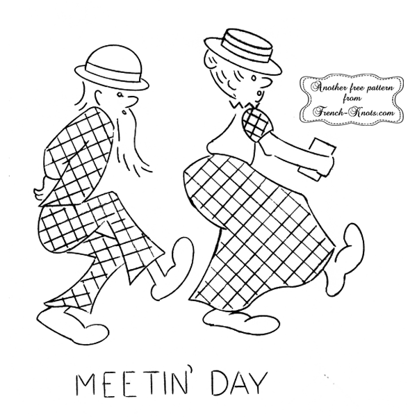 hillbilly meetin' day embroidery pattern