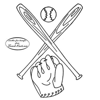 baseball bats glove