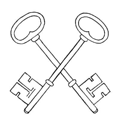 crossed skeleton keys