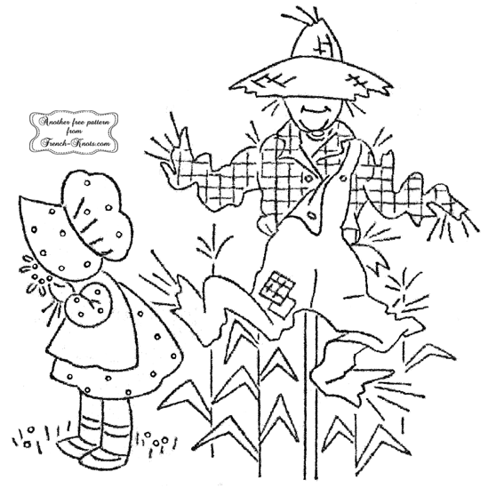 scarecrow and girl