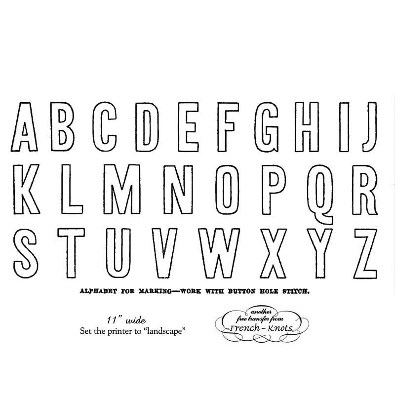 block lettering