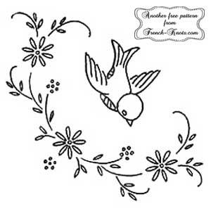 bird with daisies