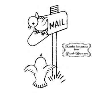 bird in a mailbox