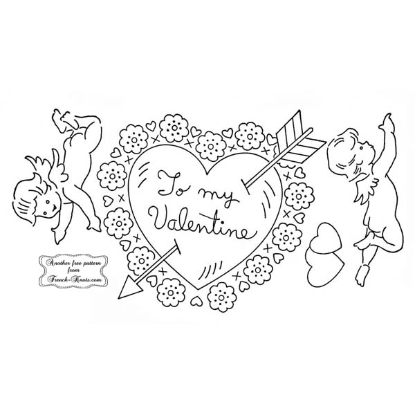 valentine heart and cupids